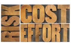 企业概念费用工作成绩风险 免版税库存图片