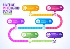 企业模板时间安排设计传染媒介的,企业营销Infographic介绍 库存例证