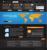 企业模板网站 免版税图库摄影