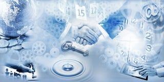 企业横幅营销背景 免版税库存图片