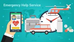 企业横幅-紧急帮助服务 库存图片
