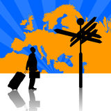 企业欧洲旅行 图库摄影
