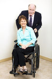 企业残疾合作伙伴 图库摄影