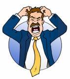 企业沮丧的人 免版税库存图片