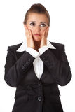企业沮丧的现代妇女 库存图片