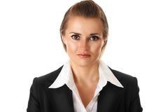 企业沮丧的现代妇女 免版税库存图片
