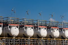 企业油零件生产 库存照片