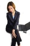 企业滑稽的愉快的妇女 库存照片
