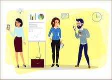 企业漫画人物 图库摄影