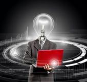 企业灯头富创意的人 免版税库存图片