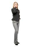 企业灰色严重的诉讼妇女年轻人 免版税库存图片