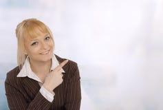 企业特写镜头微笑的妇女年轻人 免版税图库摄影