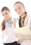 企业特写镜头董事女性纵向二 免版税库存照片