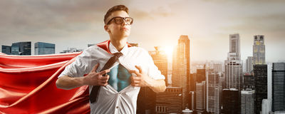 企业特级英雄 免版税库存照片