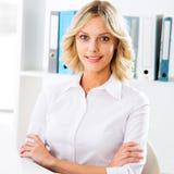 企业现代办公室妇女 免版税库存照片