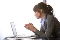 企业现代办公室妇女 免版税库存图片