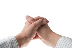 企业现有量祈祷的衬衣年轻人 免版税库存图片