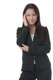 企业现有量题头妇女 库存图片