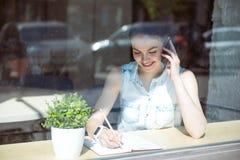 企业现代妇女年轻人 免版税库存照片