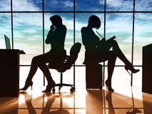企业现代妇女 图库摄影