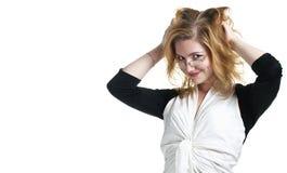企业玻璃妇女 免版税图库摄影