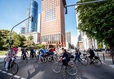 企业生命力在法兰克福市 免版税库存照片