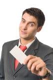 企业生意人看板卡产生 免版税库存图片