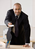 企业生意人看板卡提供 免版税库存照片
