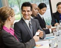 企业生意人看板卡提供 免版税库存图片