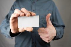 企业生意人看板卡藏品 嘲笑 复制空间 免版税库存图片