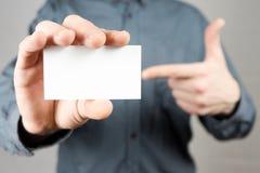 企业生意人看板卡藏品 嘲笑 复制空间 免版税库存照片