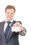 企业生意人看板卡藏品 库存照片