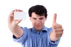 企业生意人看板卡被举的略图 库存照片