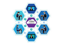 企业电视电话会议 库存例证
