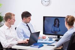 企业电视电话会议 库存照片