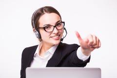 企业电话中心夫人, 免版税库存图片