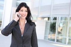 企业电话俏丽的妇女 库存照片