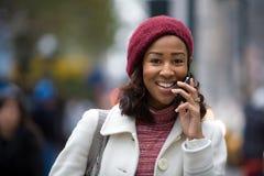 企业电话妇女 免版税库存图片