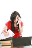 企业电话妇女 免版税图库摄影
