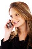 企业电话妇女 库存图片