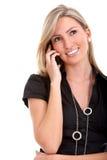 企业电话妇女 图库摄影
