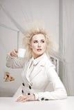 企业疯狂的妇女 免版税库存照片