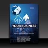 企业盖子设计传单 免版税图库摄影