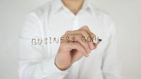 企业目标,写在玻璃 免版税库存照片