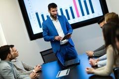 企业研讨会的图片在会议室 免版税库存照片