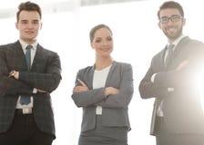 企业确信的人小组 免版税库存照片