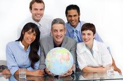 企业确信的地球藏品合作伙伴 免版税库存照片