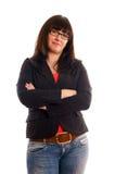 企业确信的夫人年轻人 免版税库存照片