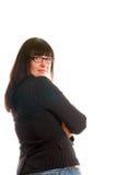 企业确信的夫人年轻人 免版税库存图片