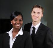 企业确信的夫妇种族多 免版税图库摄影